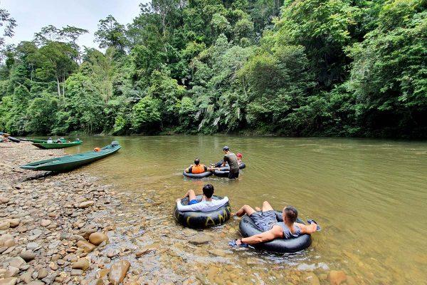Water Tubing at Temburong River Brunei