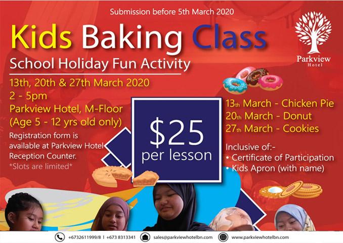 Kids baking class - parkview hotel